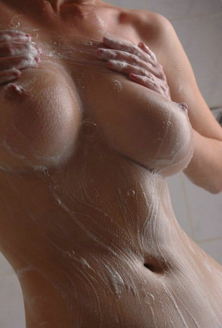 Soapy fun in the shower! Porn Photo