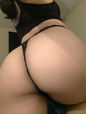 amateur photo Black thong 🖤