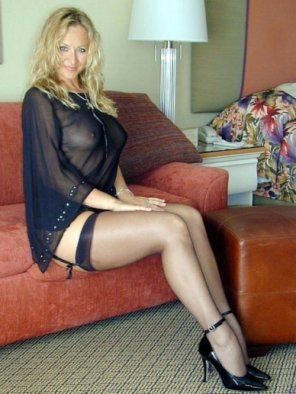 amateur photo Negligee and silk