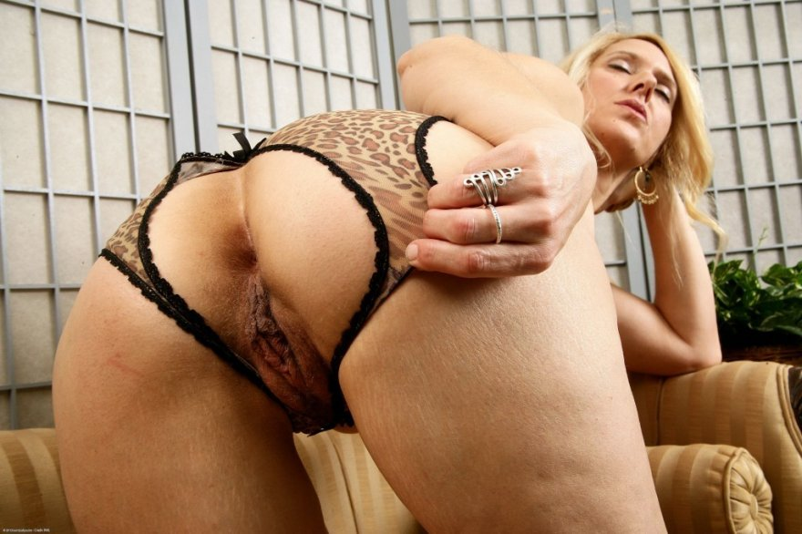 Trish in her easy access panties Porn Photo