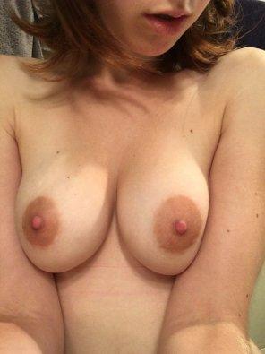 amateur photo [F] Would you suck them, please?