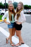 amateur photo Long hair, cute outfits, and bright smiles. First day of college!