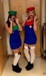amateur photo Mario & Luigi.