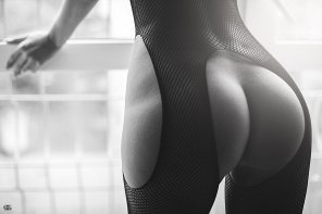 amateur photo Fishnet bodystocking