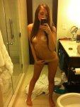 amateur photo Pierced red selfie