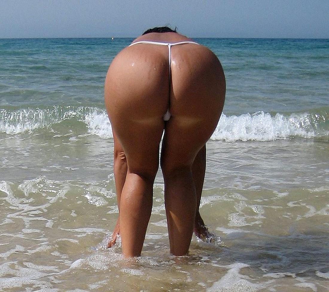 Milf beach thong