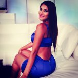 amateur photo Diana Alvarado - Back midriff blue dress