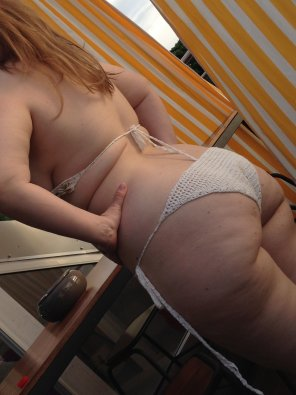 amateur photo [oc] wife's first pic. Milky ginger skin, thick ass and thighs. What could be better?