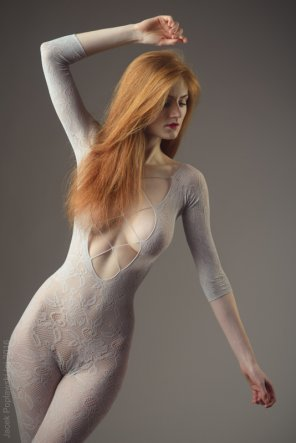 amateur photo Sheer body stocking