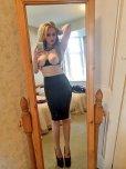 amateur photo Blonde, Mirror selfie