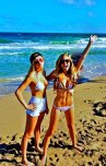 amateur photo Blondes on beach
