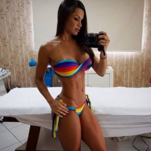 amateur photo Rainbow babe