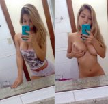 Hot amateur blonde on/off selfies