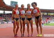 The Bulgarian 4x100 relay team.