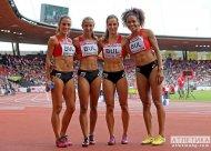 The Bulgarian 4x100 relay team.