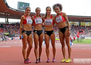 amateur photo The Bulgarian 4x100 relay team.