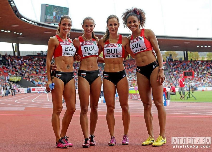 The Bulgarian 4x100 relay team. Porn Photo