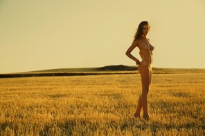 amateur photo Out standing in her field