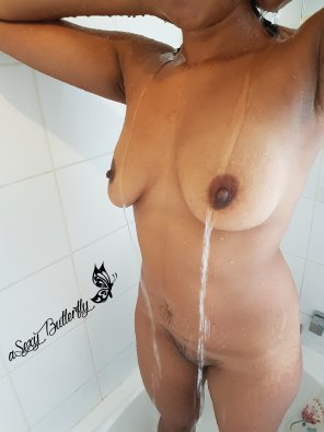 amateur photo Shower time! Indian wi[f]e.