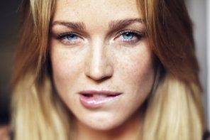 amateur photo Lip-biting blonde