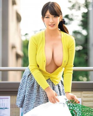 amateur photo When she unbuttons her shirt...