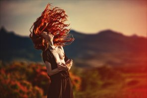 amateur photo Explosive red hair