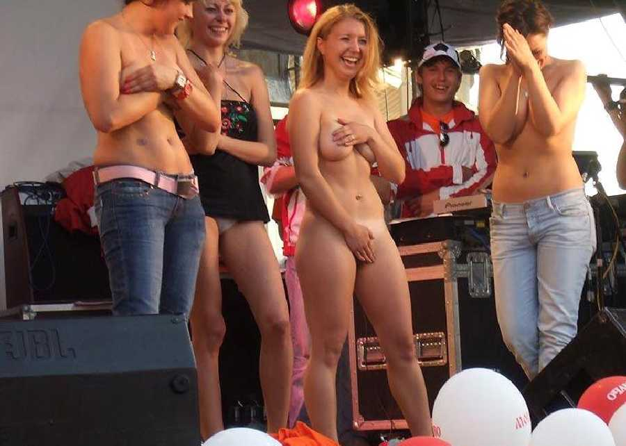 and Girl embarrassed naked