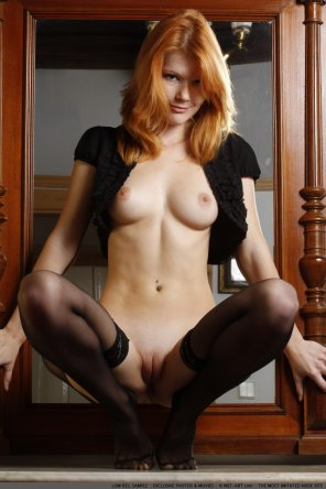 amateur photo Mia Sollis showing off her delicious pussy