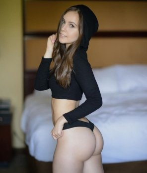 amateur photo Hottie in a hoodie