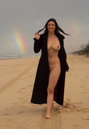 amateur photo Beauty, Beach and the Rainbow..