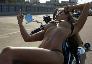 amateur photo Biker babe