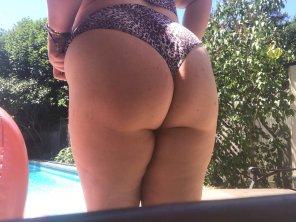 amateur photo Sel[f] timer naughtiness! Do you like my bikini bottoms? 😈