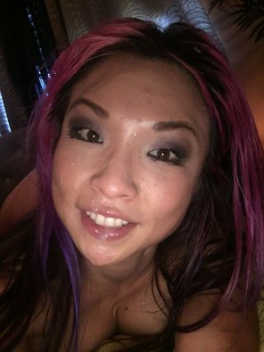 amateur photo Purple haired asian MILF