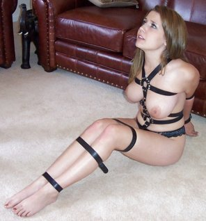 amateur photo Harnessed and helpless