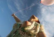 Pink balloon.
