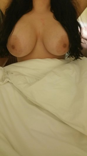 amateur photo My girl is very self conscious about her boobs...let her know what you think