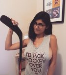 amateur photo Mia Khalifa picks hockey over you