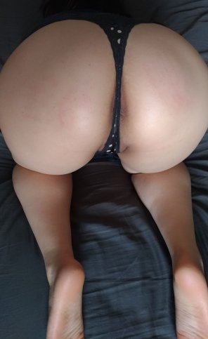 amateur photo Bought a new thong - Spank me? ;)