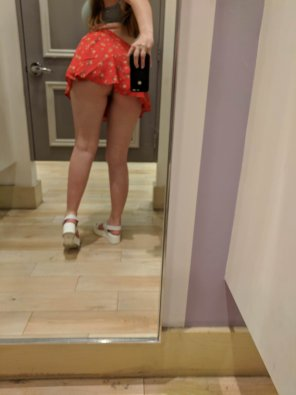 amateur photo My skirt is way too short