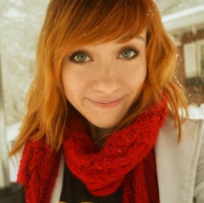 amateur photo Red Scarf Red Hair