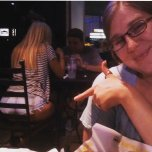 amateur photo Found some thickness at Buffalo Wild Wings