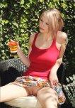 amateur photo Bottomless blonde