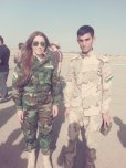 amateur photo Kurdish peshmerga.