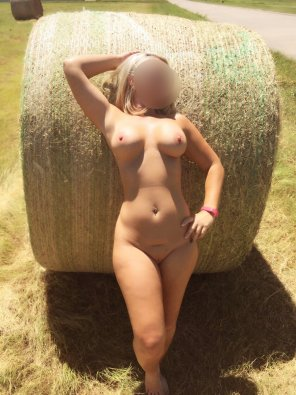 amateur photo Leaning Back On The Hay