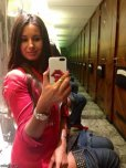 amateur photo Super hot chick taking a selfie while on the toilet