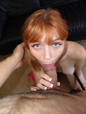 amateur photo Wide eyed redhead