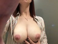 amateur photo Posing her Boobs