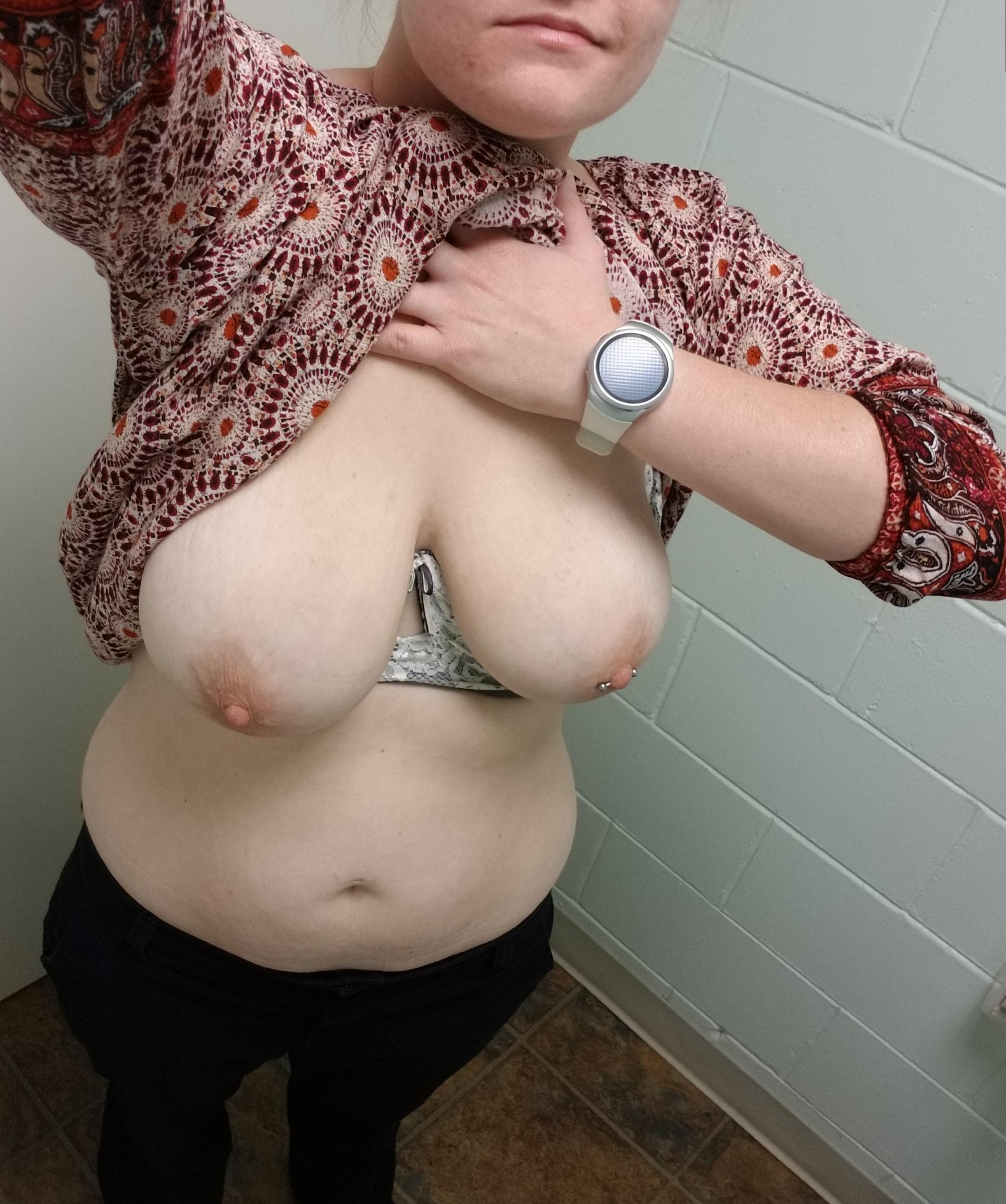 Wife flashing in public