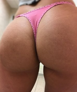 amateur photo [F] Thing of the day!!! Today I am wearing a pink VS thong, Have a great Friday!!