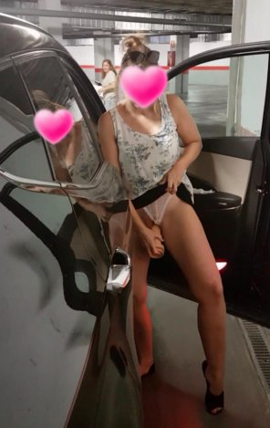 amateur photo Another flash...getting caught with a huge cock in her. Kik us your cock and what you think of her *antoniosmithcd